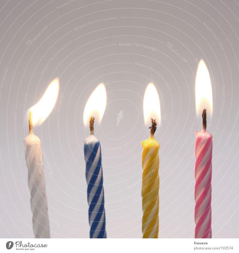 los pusten! Dekoration & Verzierung Kerze alt blau mehrfarbig gelb rosa weiß Leben Geburtstag Kerzen Kerzenschein Kerzendocht Kerzenflamme Feste & Feiern