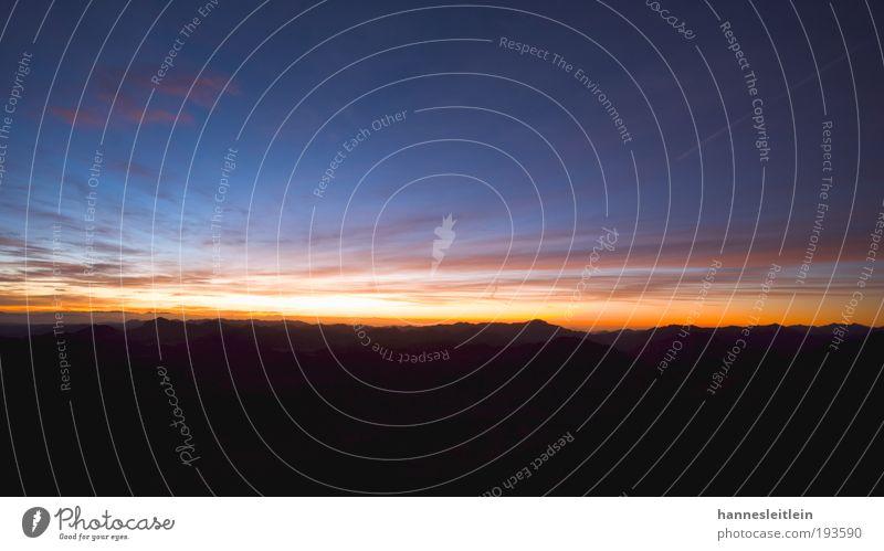 Sunrise Sinai Ausflug Sightseeing Berge u. Gebirge Landschaft Himmel Sonne Sonnenaufgang Sonnenuntergang Mond Schönes Wetter Sinai-Berg Gipfel beobachten