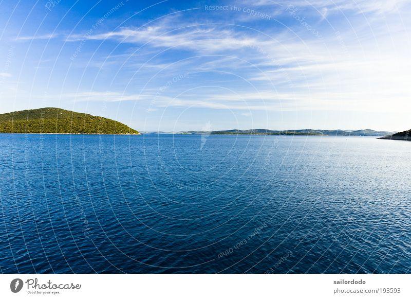 Adria Segeln Freiheit Sommerurlaub Meer Insel Umwelt Natur Landschaft Wasser Himmel Wolken Schönes Wetter Küste Bucht Nordsee blau Freizeit & Hobby Horizont