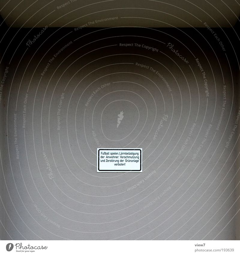 ... verboten! Mauer Wand Fassade Stein Beton Metall Zeichen Schriftzeichen Schilder & Markierungen Hinweisschild Warnschild Aggression alt dunkel authentisch