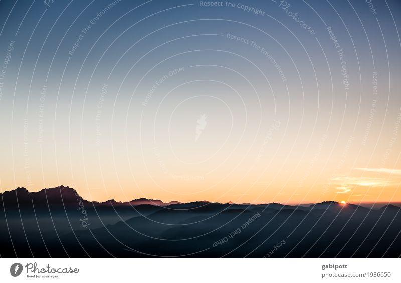 Prima Klima | in den Bergen Natur Ferien & Urlaub & Reisen Farbe Landschaft Erholung ruhig Ferne Berge u. Gebirge Umwelt Leben Herbst natürlich Freiheit