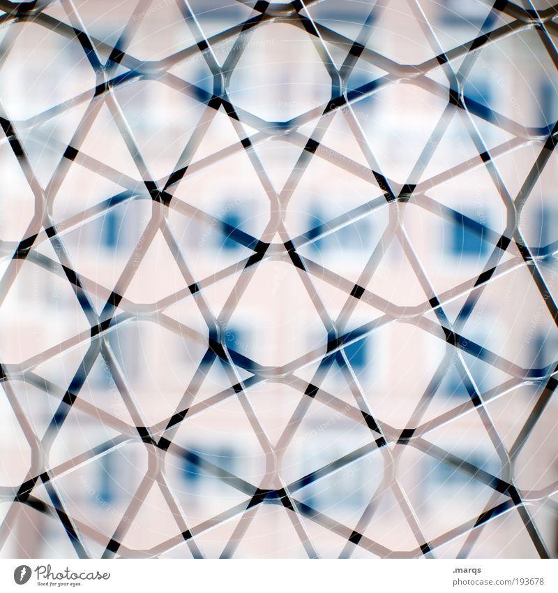 Kreuz vs. Quer Stadt Haus Farbe Stil Fenster Design elegant verrückt außergewöhnlich trashig abstrakt Grafik u. Illustration Zaun skurril Surrealismus
