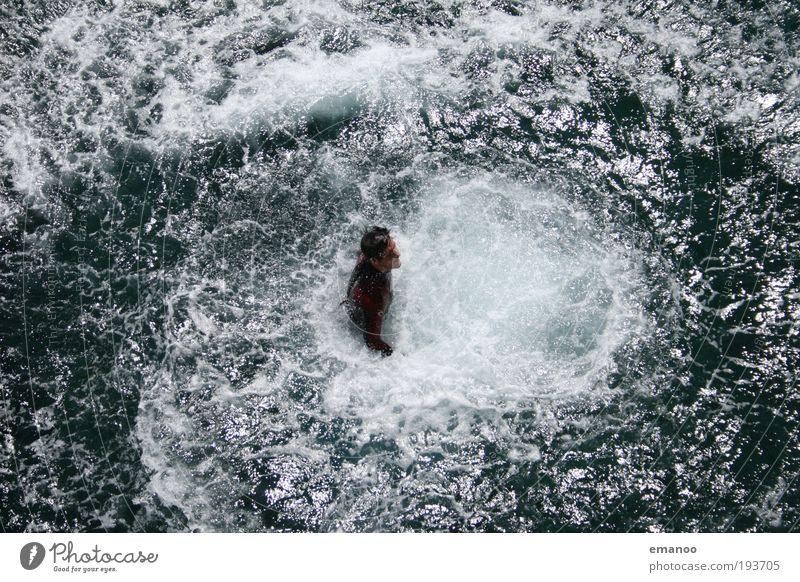 aufgetaucht Mensch Wasser Ferien & Urlaub & Reisen Meer Sommer Freude Freiheit springen Küste Wellen Schwimmen & Baden maskulin Abenteuer verrückt Lifestyle