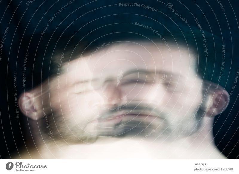 Transformation Mensch maskulin Junger Mann Jugendliche Gesicht Bart 18-30 Jahre Erwachsene 30-45 Jahre alt Denken träumen Traurigkeit warten außergewöhnlich