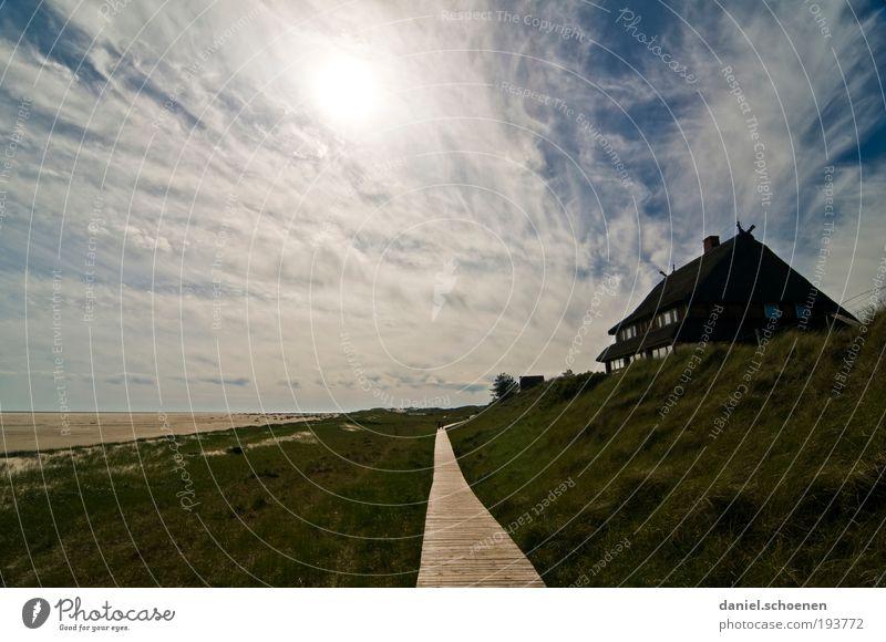 Amrum 5 Erholung ruhig Ferien & Urlaub & Reisen Tourismus Ferne Freiheit Sommer Sommerurlaub Strand Meer Insel Haus Landschaft Himmel Horizont Schönes Wetter