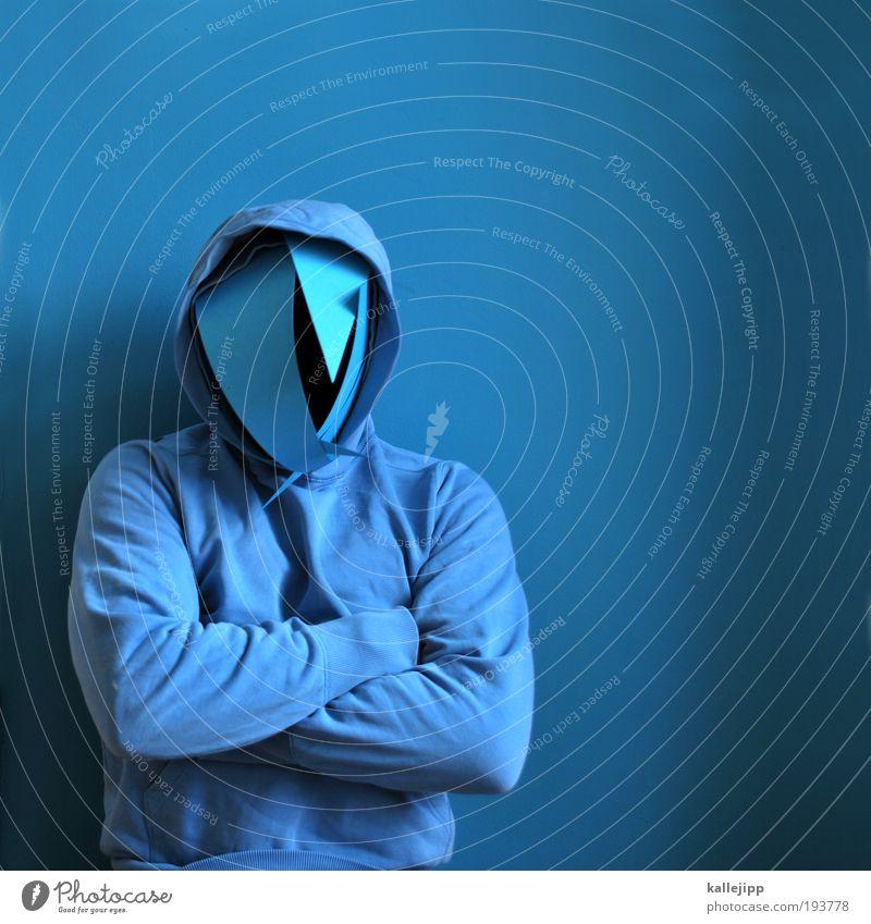 aktenzeichen xy Mensch Mann blau Erwachsene Gesicht dunkel Arme maskulin außergewöhnlich Bekleidung bedrohlich Stoff Maske geheimnisvoll gruselig Wut