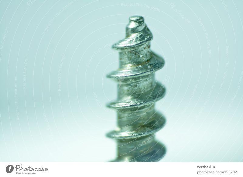 Schraube Metall Metallwaren Spitze Stahl Handwerk aufwärts Werkzeug Material abwärts Eisen Spirale Handwerker schrauben Richtung Schraubengewinde