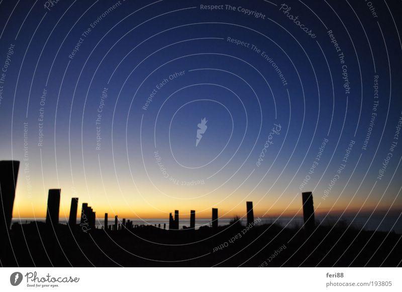 Weg nach? Umwelt Natur Landschaft Erde Wasser Himmel Horizont Sonnenaufgang Sonnenuntergang Sonnenlicht Sommer Küste Meer Indischer Ozean frei blau Stimmung