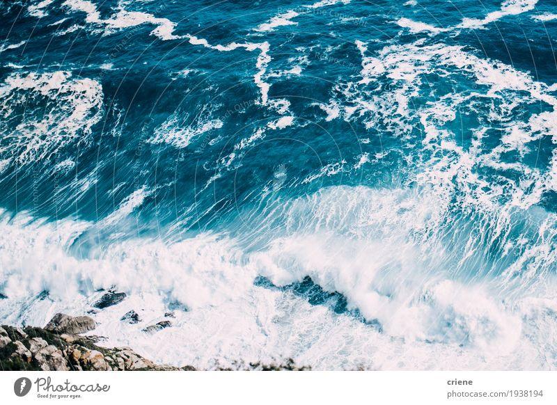 Natur Ferien & Urlaub & Reisen blau Sommer Farbe schön Landschaft Meer Lifestyle Küste Tourismus hell Wellen frisch ästhetisch Aussicht