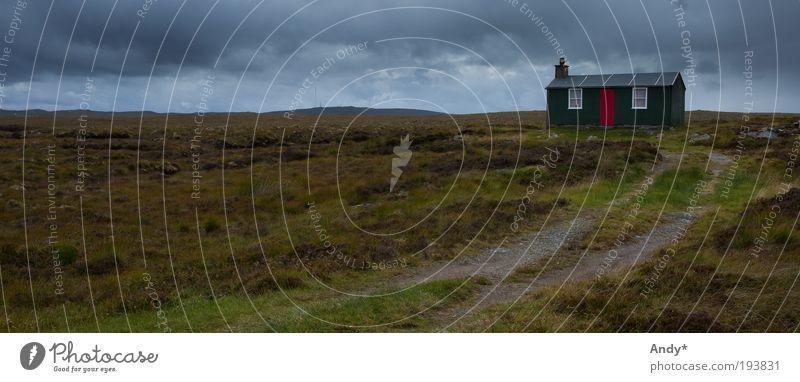 Einsamkeit Ferien & Urlaub & Reisen Ferne Insel Schottland isle of Lewis Natur Landschaft Himmel Wolken Horizont schlechtes Wetter Regen Pflanze Gras Moor Sumpf