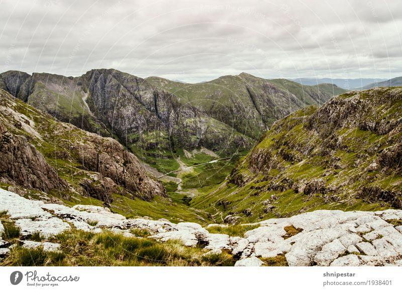 Bidean nam Bian, Glen Coe, Schottland Natur Ferien & Urlaub & Reisen Landschaft Wolken Ferne Berge u. Gebirge Umwelt Gesundheit Freiheit Tourismus Felsen Wetter