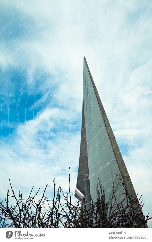 Kanzlereck Himmel Himmel (Jenseits) Wolken Spitze Beton Hauptstadt steil Hecke Regierung Regierungssitz Berlin Regierungspalast Spreebogen Bundeskanzler Amt