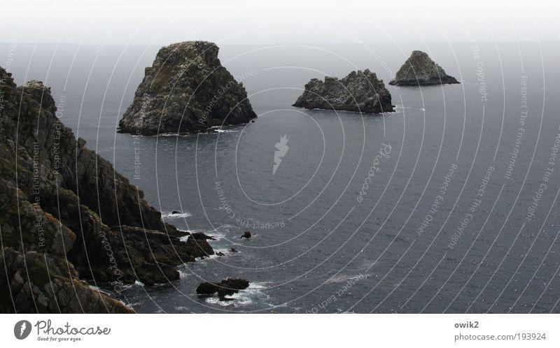 Pointe du Van Umwelt Natur Landschaft Urelemente Wasser Horizont Sommer Klima Schönes Wetter Felsen Küste Meer Atlantik Kap Bretagne Frankreich Europa