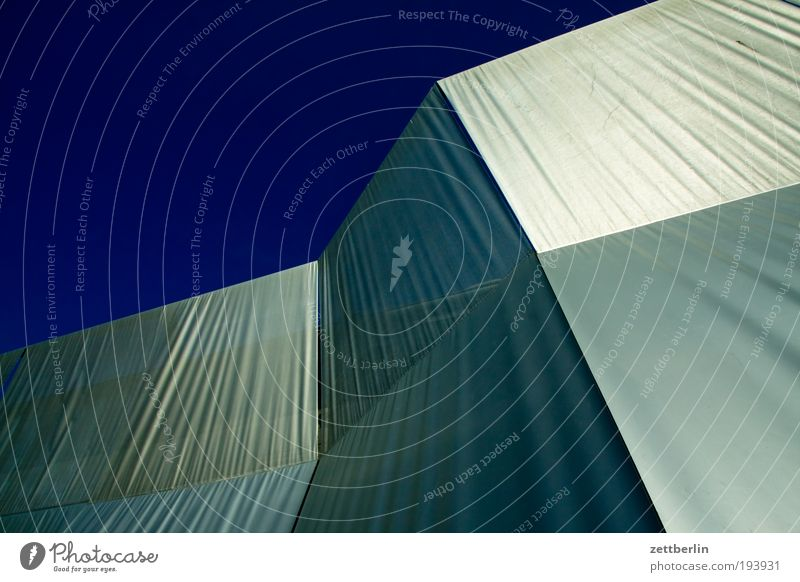 Galerie Architektur Kunst glänzend modern Ecke Schutz Kunststoff Falte silber Silber Gitter Am Rand Baugerüst Abdeckung Kunststoffverpackung