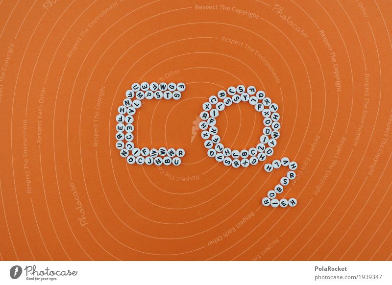 #AS# CO2 Kunst orange Design ästhetisch Kreativität Klima Buchstaben nachhaltig Kunstwerk Klimawandel Mosaik Kohlendioxid Klimaschutz CO2-Ausstoß