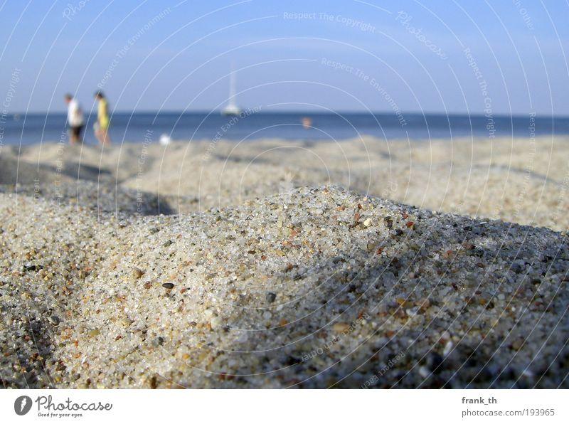1001 Sandkorn Mensch Wasser Himmel Meer Sommer Strand Ferien & Urlaub & Reisen Erholung Glück gehen Freizeit & Hobby Freundlichkeit Ostsee Schönes Wetter