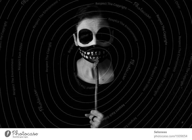 it´s not a mask Karneval Halloween Mensch Kopf Gesicht Zähne 1 Maske dunkel gruselig Traurigkeit Trauer Tod Einsamkeit Angst Nervosität verstört Schüchternheit