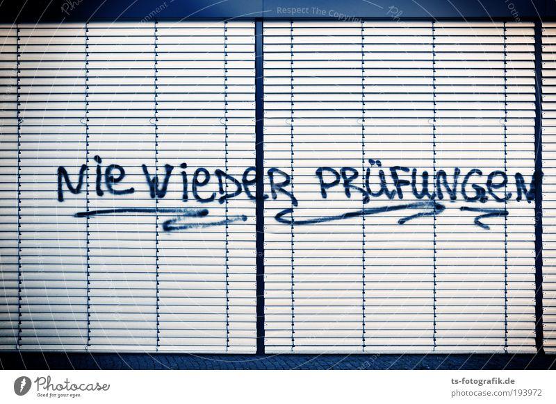 Unitopia weiß schwarz Fenster Graffiti Linie Studium Schriftzeichen Schule Bildung Student Wissenschaften Schüler Prüfung & Examen Versammlung Lehrer