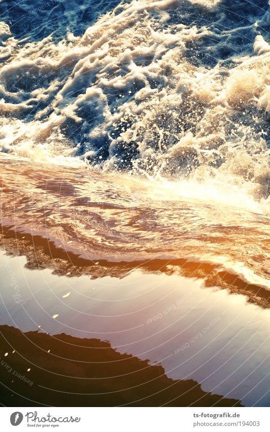 Wildwasser II Natur blau Wasser weiß Umwelt braun Wellen Kraft wild Urelemente Fluss Brandung Wasserfall spritzen Gischt Wassermassen