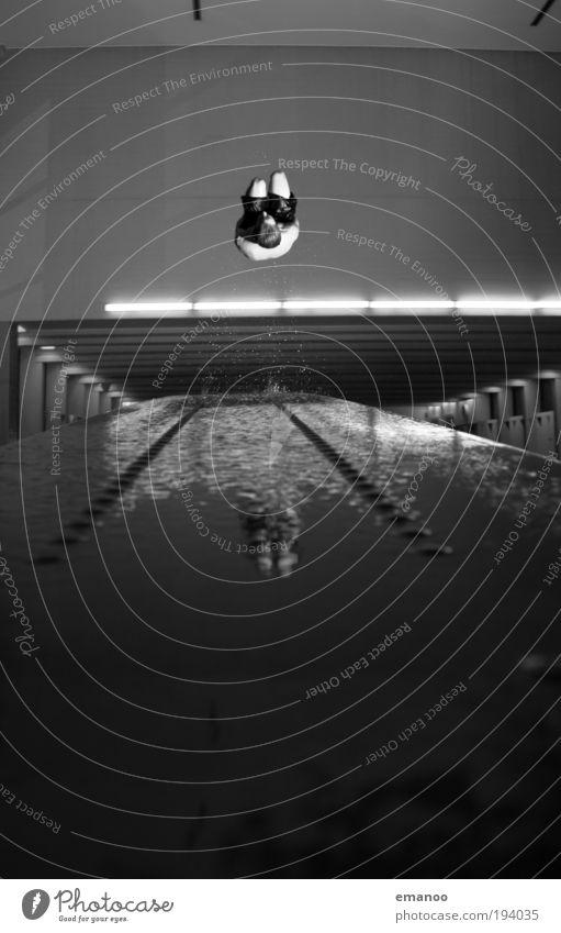 auerbach Wasser Freude Sport Bewegung springen Freizeit & Hobby fliegen Schwimmen & Baden Coolness Lifestyle Schwimmbad fallen Konzentration sportlich drehen
