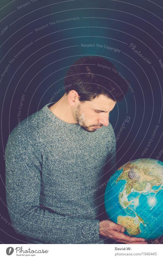 Geographie Mensch maskulin Junger Mann Jugendliche Erwachsene Leben 1 Umwelt Natur Landschaft Erde Klimawandel beobachten Wachstum Hoffnung Platzangst Gewalt