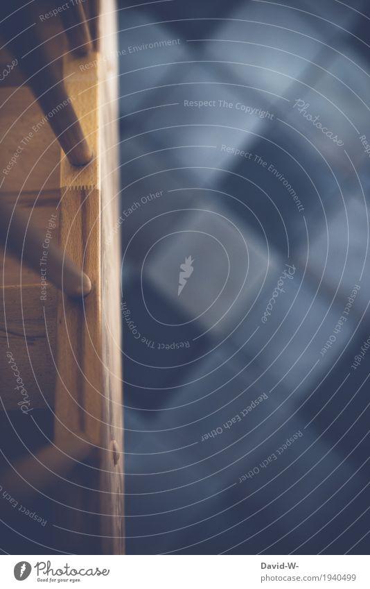 oben und unten Ferien & Urlaub & Reisen Haus Innenarchitektur Lifestyle Stil Kunst Design Wohnung Häusliches Leben Raum Treppe Dekoration & Verzierung trist