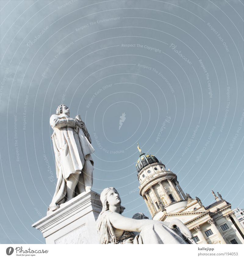 deutsch-französische-freundschaft Berlin Architektur Kunst Deutschland stehen Kirche Vergangenheit Denkmal Statue Wahrzeichen Skulptur Dom Sightseeing