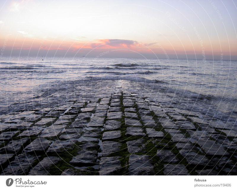 Ufer Nordsee Wasser Himmel Meer blau Stein See Nordsee