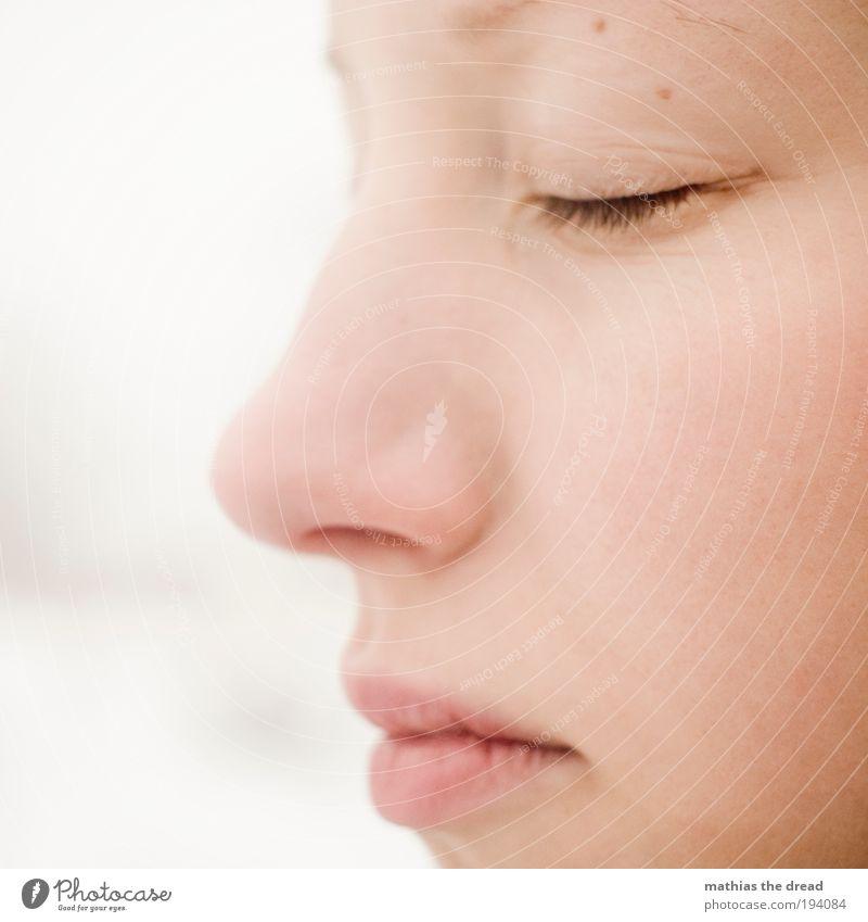 WINTERSCHLAF Mensch Jugendliche schön ruhig Gesicht Auge feminin Mund natürlich Nase schlafen einzigartig weich Vergänglichkeit Ohr Lippen