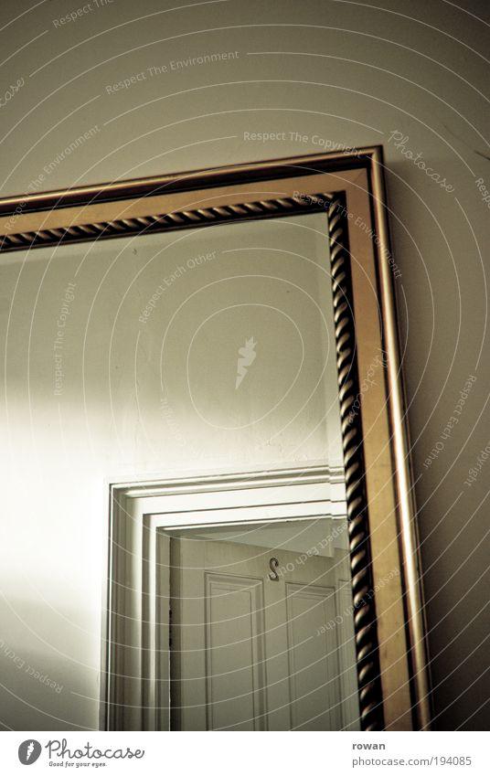 L + L alt Haus 2 Tür offen Dekoration & Verzierung Häusliches Leben Spiegel Hotel Eingang Spiegelbild altmodisch Lichteinfall Ziffern & Zahlen