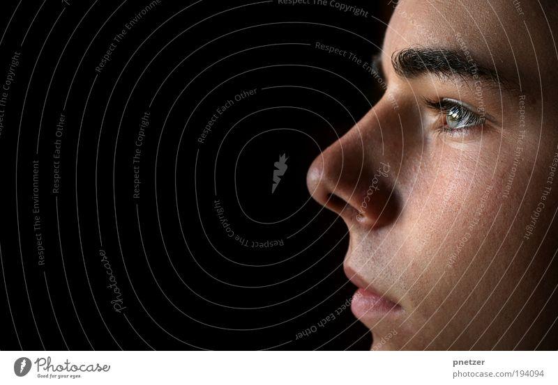 [150] Ich! Mensch Jugendliche Freude Erwachsene Gesicht Auge Gefühle Kopf Haare & Frisuren Mund Haut natürlich maskulin Nase außergewöhnlich