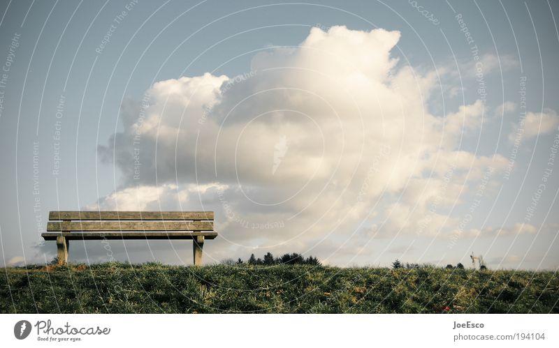 close your eyes and open your mind... Himmel Ferien & Urlaub & Reisen Pflanze schön Sommer Erholung Landschaft Wolken Umwelt Wiese Gras Lifestyle Freiheit Horizont Park Zufriedenheit