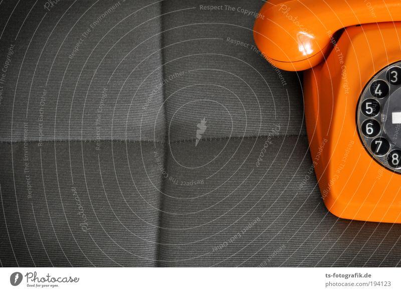 analoges Orange II schwarz grau orange Freizeit & Hobby warten Technik & Technologie Coolness Telekommunikation Telefon retro Ziffern & Zahlen Kunststoff Medien