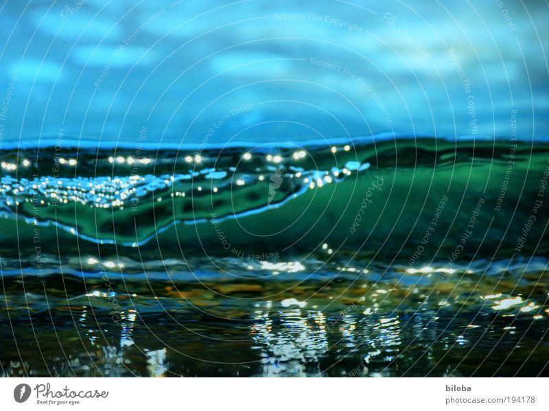 200-Jubi Umwelt Natur Urelemente Himmel Sommer Klima Klimawandel Wind Sturm Wellen gigantisch groß kalt blau grün schwarz weiß Naturgewalt Monsterwelle HDR