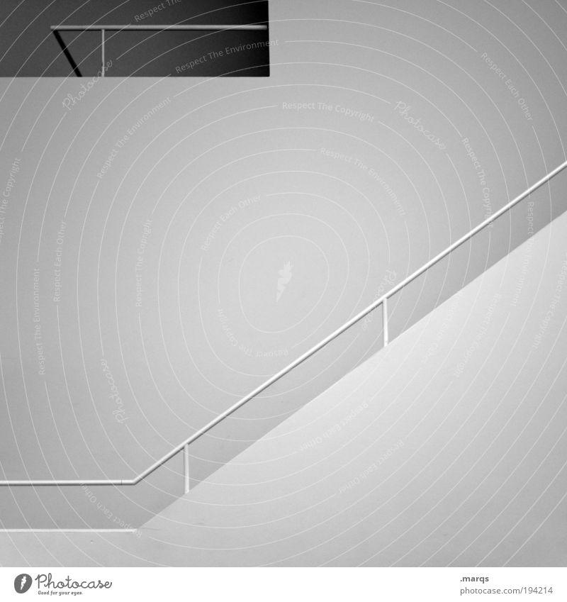 Steril schön weiß Wand Stil Mauer hell Architektur Wohnung Design elegant Erfolg Lifestyle Treppe ästhetisch neu
