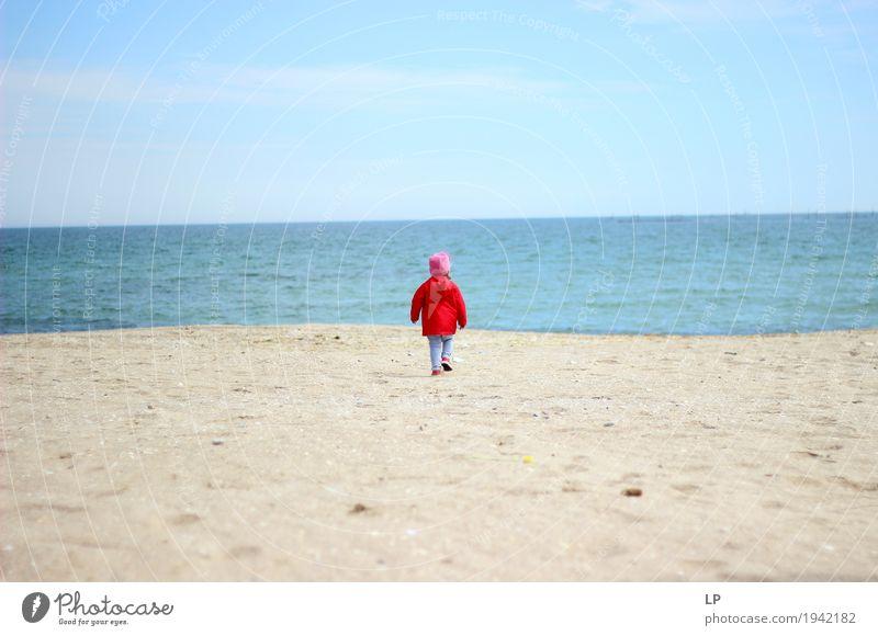 ganz allein Mensch Kind Ferien & Urlaub & Reisen Jugendliche Meer Strand Erwachsene Leben Senior Lifestyle Familie & Verwandtschaft Freiheit Ausflug Kindheit