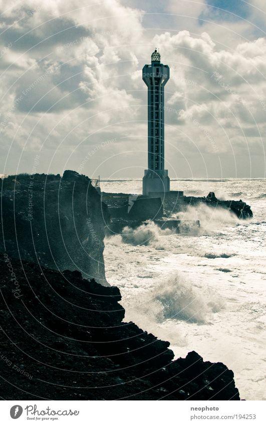 all along the watchtower Himmel Natur Wasser Meer Wolken Landschaft Küste Luft Wellen Erde Felsen Urelemente Sturm Unwetter Bucht bizarr