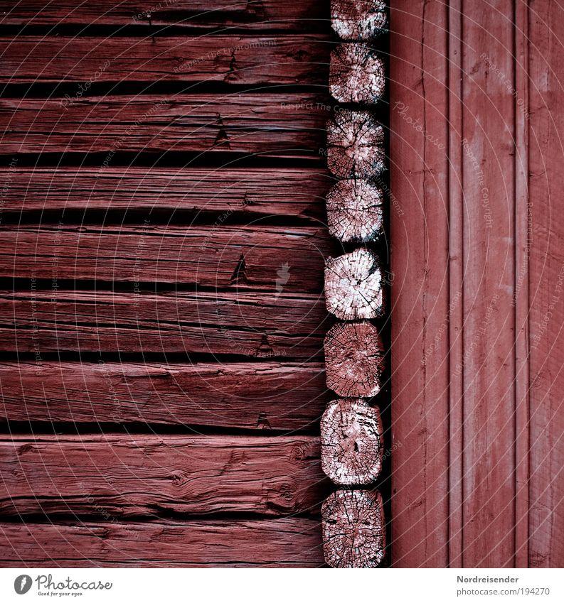 Alt neben Neu Lifestyle Stil Freiheit Haus Hütte Fassade Holz Häusliches Leben nachhaltig natürlich Schutz Geborgenheit Zufriedenheit Schweden Skandinavien