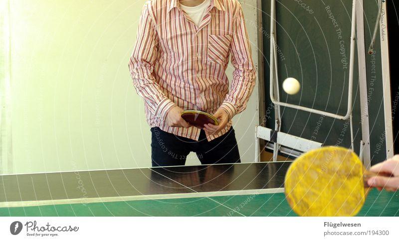 StiLLLeben Mensch Hand Sport Spielen Freizeit & Hobby Erfolg Ball Hemd Sportveranstaltung Sportler Aggression Aufschlag Chinesisch Ballsport Verlierer Keule