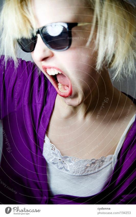 Total beklopptes Rumschreifoto Frau Jugendliche schön Freude Gesicht Erwachsene Leben Freiheit Bewegung Party Stil Mode Feste & Feiern Zufriedenheit Kraft