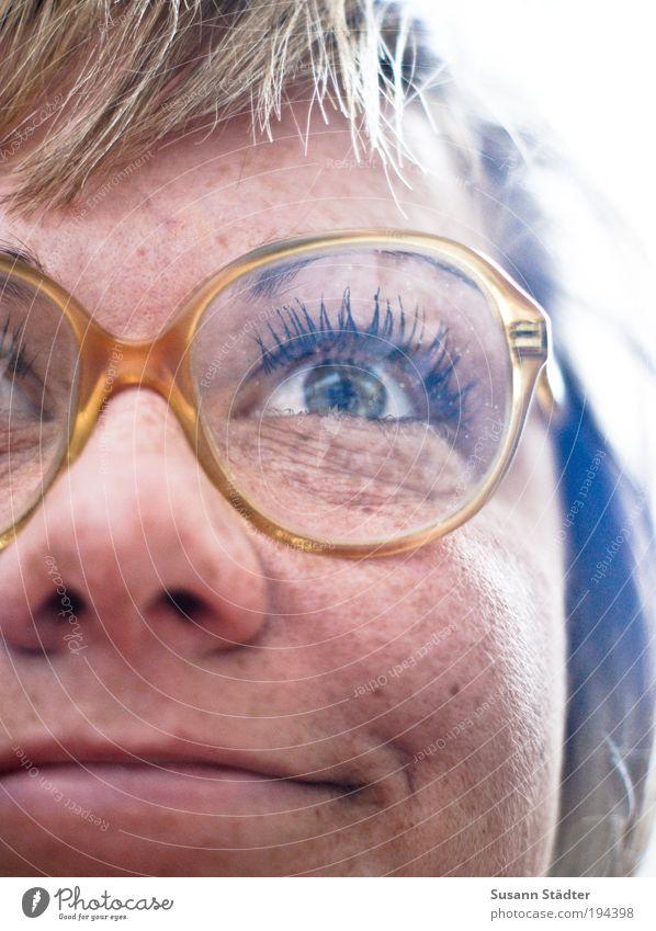 Hornbrille feminin Kopf Haare & Frisuren Gesicht Auge Nase Mund Lippen 18-30 Jahre Jugendliche Erwachsene Lächeln lachen Fröhlichkeit trendy verrückt trashig