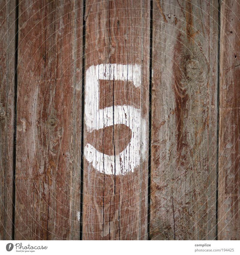 gib mir fünf Mensch alt Wand Mauer Holz Glück Garten Fassade Erfolg Hinweisschild Ziffern & Zahlen Zeichen Hütte Handwerk 5 Werkzeug