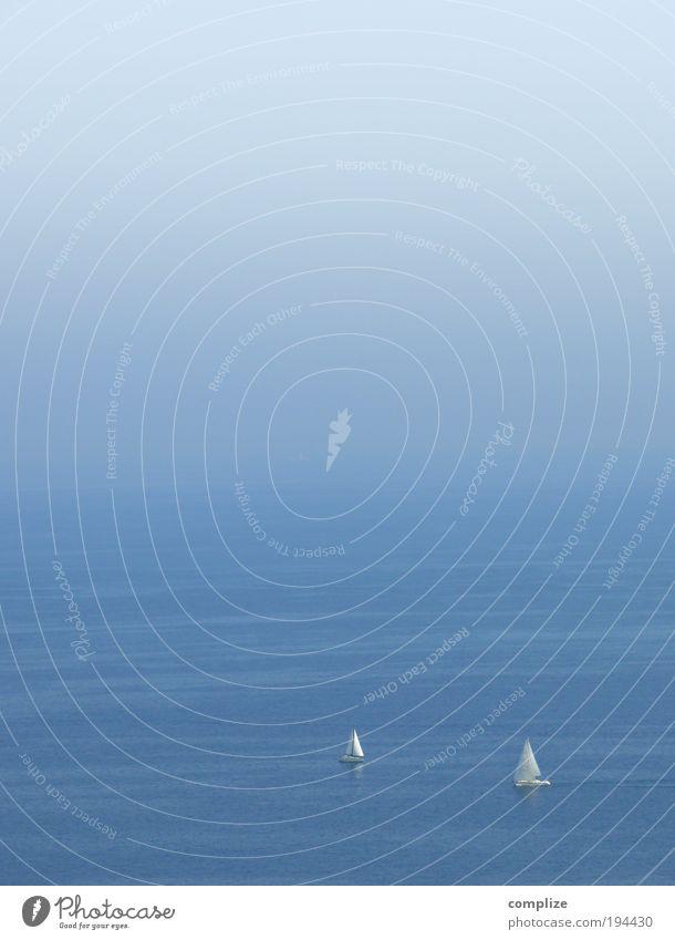 Married To The Sea Mensch Himmel Ferien & Urlaub & Reisen blau weiß Wasser Sommer Meer ruhig Ferne Küste Stil Glück Horizont Paar Wellen