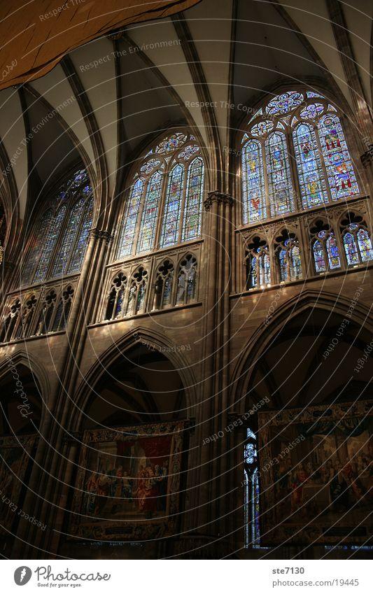 strasbourg Fenster Mosaik Straßburg geheimnisvoll Lichteinfall Gotteshäuser Religion & Glaube Architektur