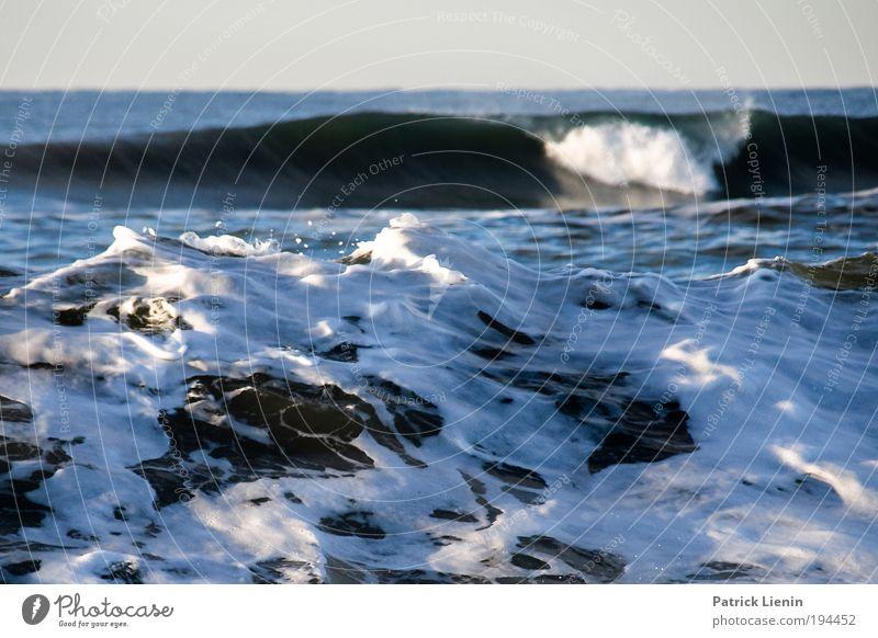 cold hawaii Wasser weiß Meer Strand Umwelt Küste Wellen Wind Kraft Angst bedrohlich Sturm brechen Schaum Klimawandel laut