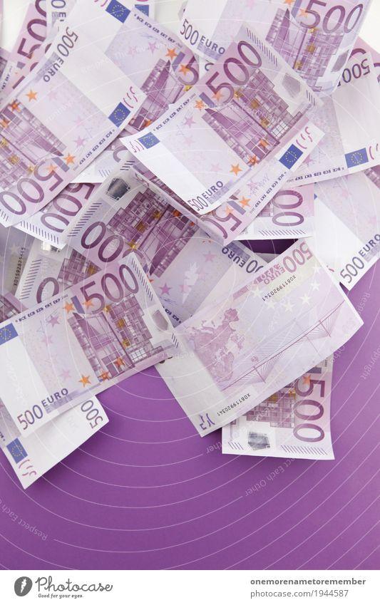 Schlussverkauf Kunst ästhetisch Erfolg Geld viele Reichtum reich Geldscheine Kunstwerk Euro Kapitalwirtschaft Eurozeichen Trostpreis Einkommen Kapitalismus 500