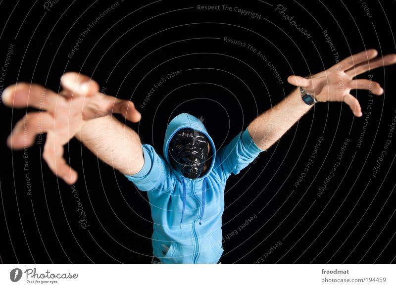 zombieland Mensch Hand dunkel Kraft dreckig maskulin groß wild gefährlich verrückt außergewöhnlich bedrohlich Maske gruselig Todesangst trashig