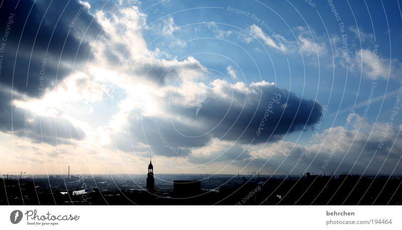 *150* hamburglobhudelei schön Himmel blau Wolken Ferne Glück Zufriedenheit Wohnung Hamburg Sicherheit Fröhlichkeit Kirche Tourismus Aussicht Lebensfreude