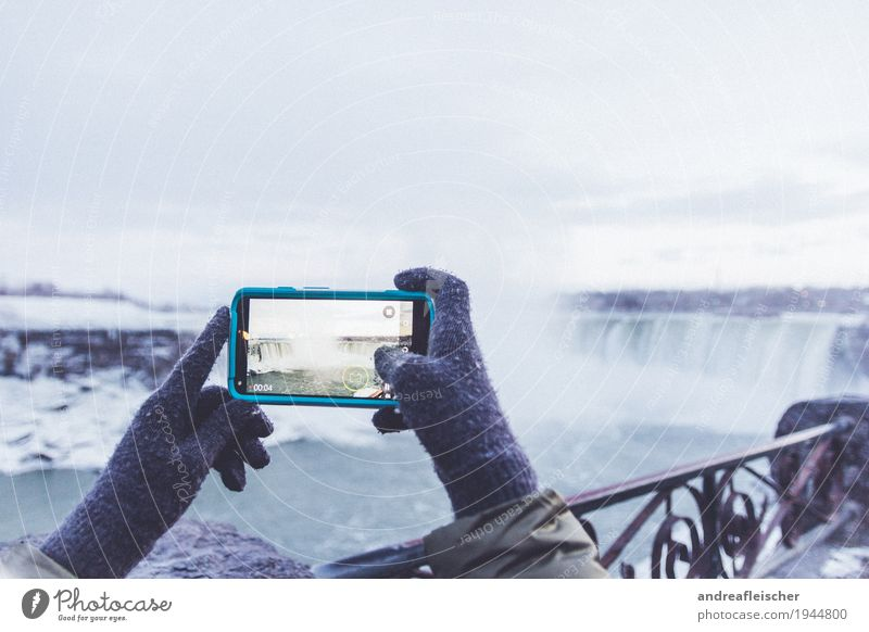 Winterwonderland an den Niagara Fällen Ferien & Urlaub & Reisen Tourismus Ausflug Abenteuer Ferne Freiheit Sightseeing Schnee Mensch 1 13-18 Jahre Jugendliche