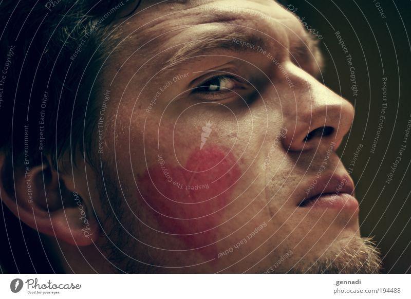 Wiebinho Haut maskulin Junger Mann Jugendliche Kopf Haare & Frisuren Auge Ohr Nase Mund Bart 1 Mensch 18-30 Jahre Erwachsene Zeichen herzförmig Herz trashig